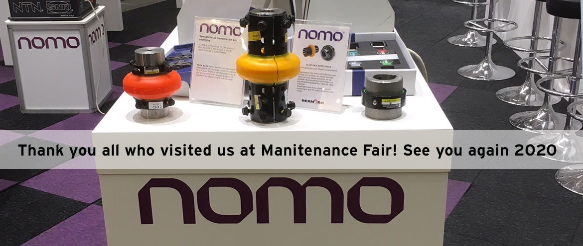 Flexible couplings at Nomos stand